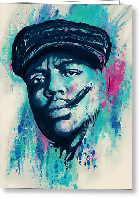 The King Of Pop Greeting Cards - Biggie smalls Modern art drawing poster Greeting Card by Kim Wang