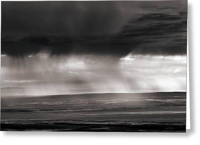 Bighorn Basin Rain Greeting Card by Leland D Howard