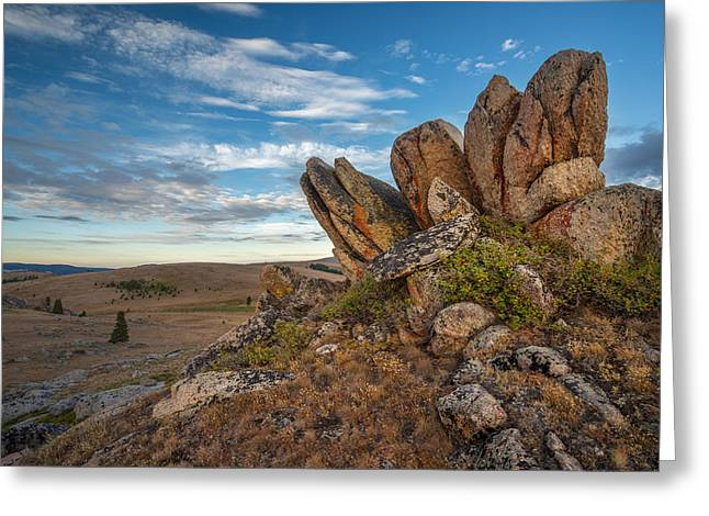 Layers Greeting Cards - Bighorn Granite  Greeting Card by Leland D Howard