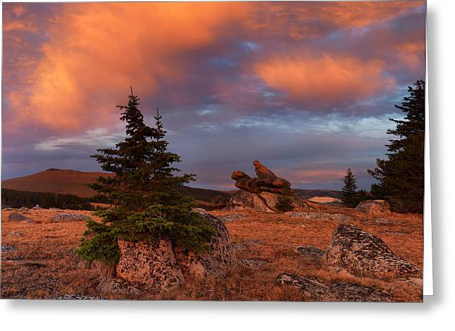 Bighorn Mountains Sunrise Greeting Card by Leland D Howard