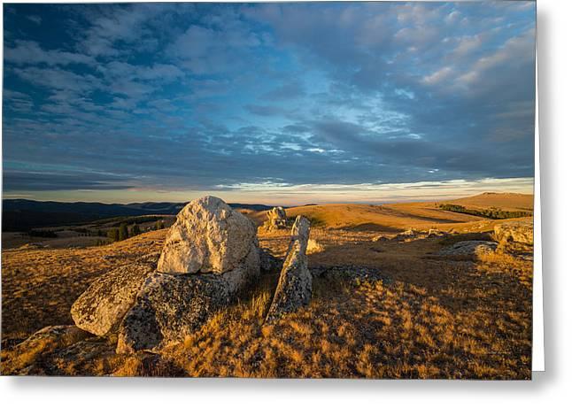 Bighorn Ridge Sunrise Greeting Card by Leland D Howard