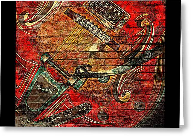 Bigsby Faux Mural Greeting Card by Chris Berry