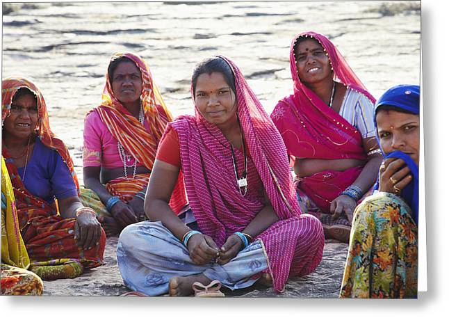Mid Adult Women Greeting Cards - Bijaipur, Rajasthan, India Greeting Card by Andy Kerry