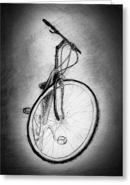 Bike Greeting Card by Di Fernandes