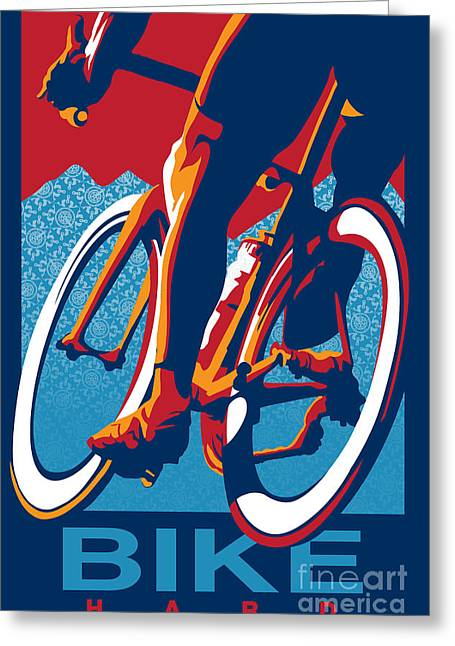 Vuelta Greeting Cards - Bike Hard Greeting Card by Sassan Filsoof