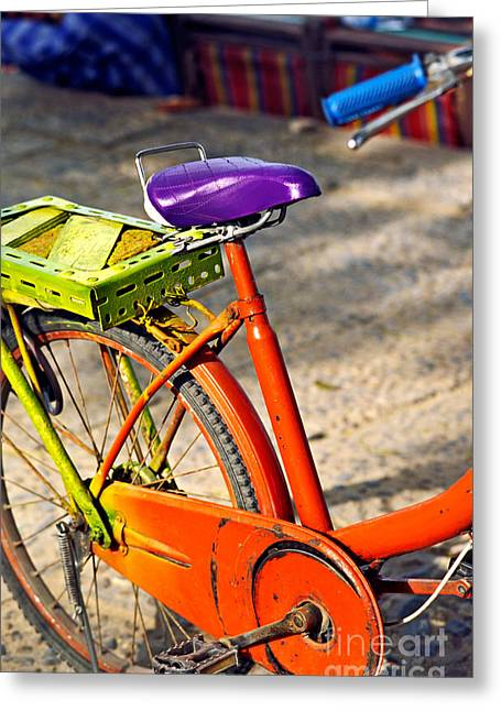 Speed Trials Greeting Cards - Bike Greeting Card by Luciano Mortula
