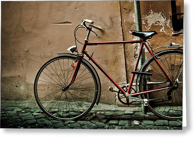 Trastevere Greeting Cards - Bike  Greeting Card by Mesha Zelkovich