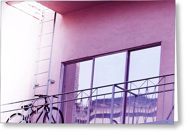 Laura Wrede Greeting Cards - Bike On My Balcony Greeting Card by Artist and Photographer Laura Wrede