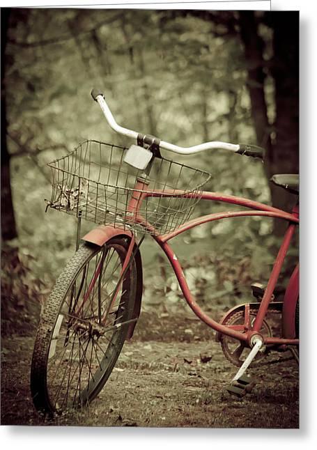 Bike Greeting Card by Shane Holsclaw