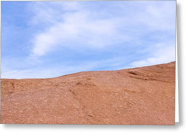 Slickrock Greeting Cards - Biker On Slickrock Trail, Moab, Grand Greeting Card by Panoramic Images
