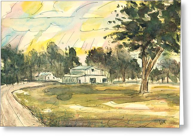 Franklin Tennessee Greeting Cards - Biking Boyd Mill Greeting Card by Tim Ross