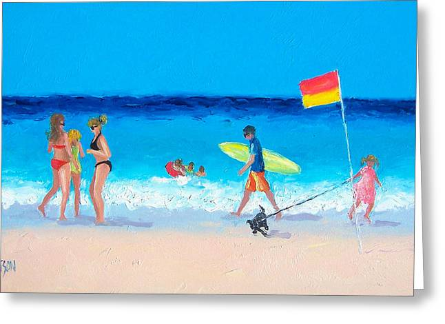 Beach Cottage Style Greeting Cards - Bikini Girls Greeting Card by Jan Matson
