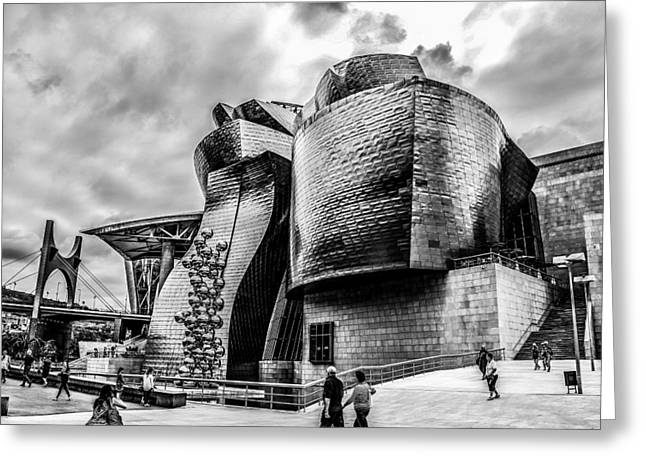 Salve Greeting Cards - Bilbao Guggenheim Greeting Card by Justin Murazzo