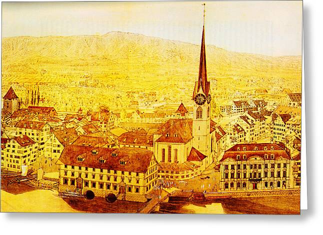 Constable Greeting Cards - Bild Fraumuenster Greeting Card by MotionAge Designs