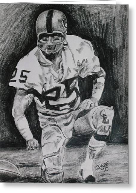 National Football League Drawings Greeting Cards - Biletnikoff Greeting Card by Jeremy Moore