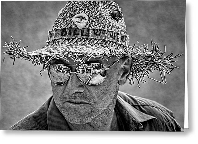 Man In The Mirror Greeting Cards - Bill Greeting Card by Britt Runyon