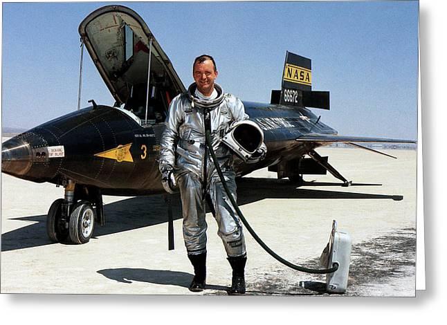 Bill Dana As X-15 Test Pilot Greeting Card by Nasa
