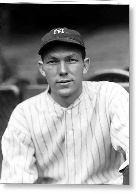 Hall Of Fame Greeting Cards - Bill Dickey Close Up Greeting Card by Retro Images Archive