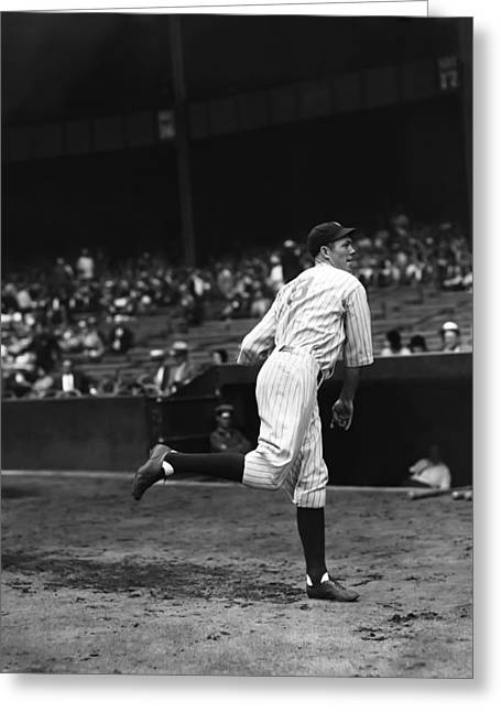 Hall Of Fame Greeting Cards - Bill Dickey Follow Through Greeting Card by Retro Images Archive