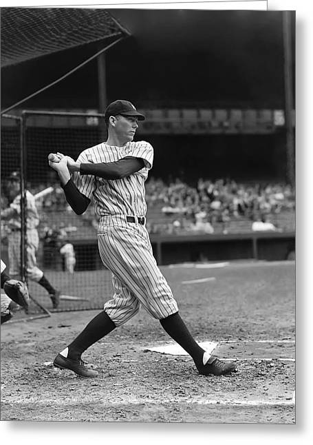 Historical Pictures Greeting Cards - Bill Dickey In Batting Cage Greeting Card by Retro Images Archive