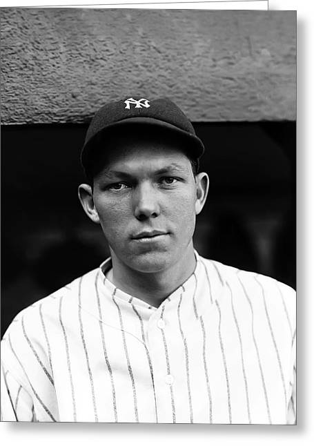 Bill Dickey Greeting Cards - Bill Dickey New York Yankees Greeting Card by Retro Images Archive