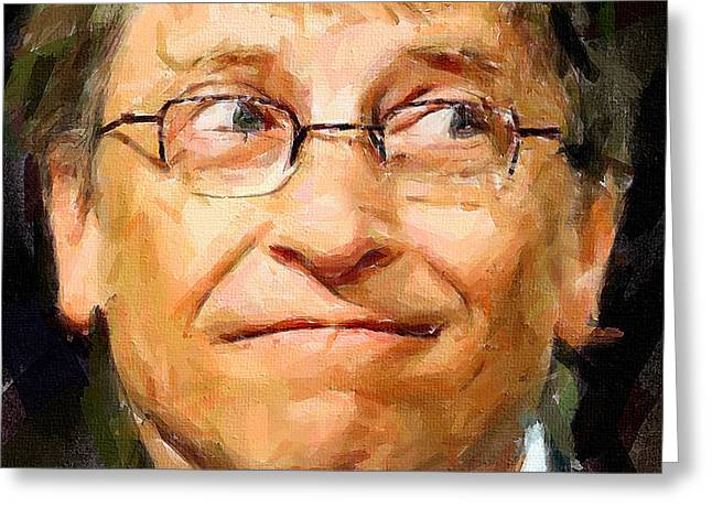 Bill Gates Greeting Card by Yury Malkov