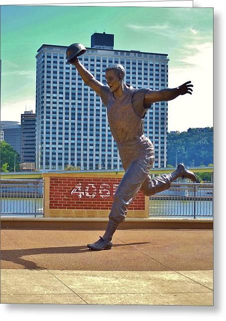 Bill Mazeroski Greeting Cards - Bill Mazeroski Statue Greeting Card by Anthony Thomas