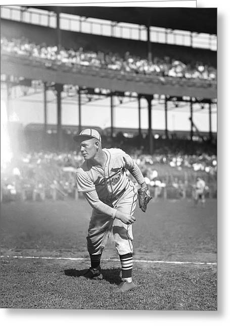 Baseball Game Greeting Cards - Bill McGee Greeting Card by Retro Images Archive