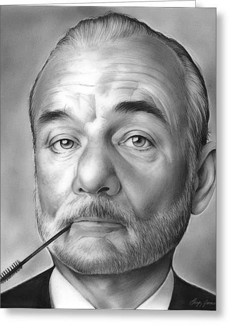 Bill Murray Greeting Card by Greg Joens