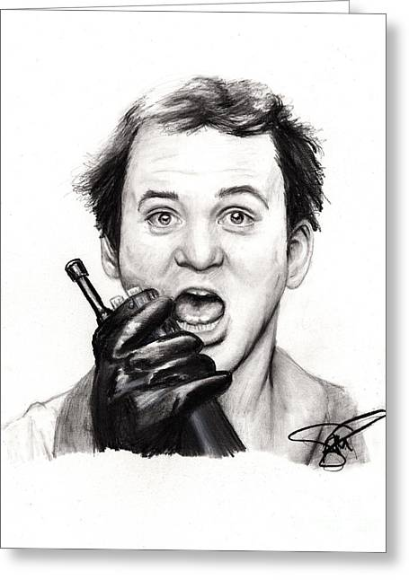Bill Murray Greeting Card by Rosalinda Markle