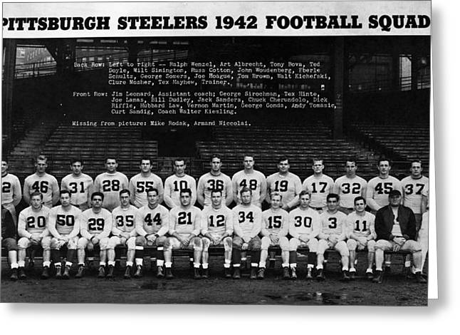 Pittsburgh Greeting Cards - Pittsburgh Steelers Greeting Card by Retro Images Archive
