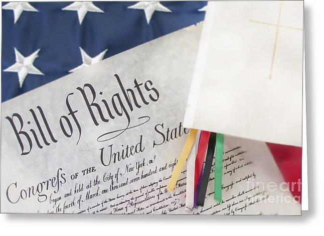 Conservative Greeting Cards - Bill of Rights by bible  Greeting Card by Cheryl Casey
