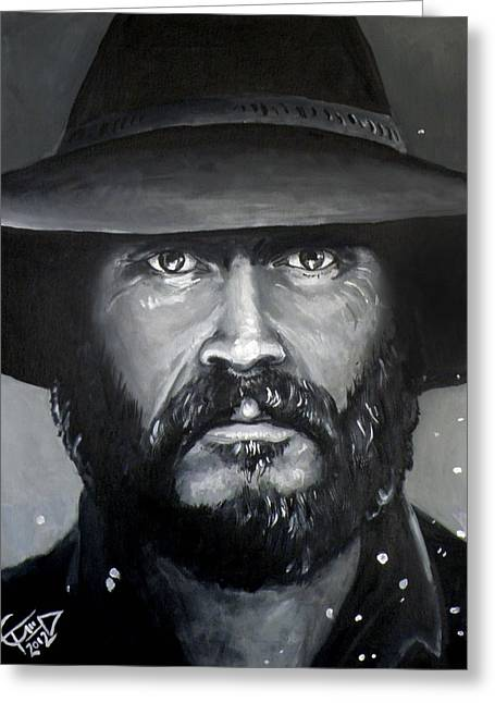 Mccoy Paintings Greeting Cards - Bill Paxton - McCoy Greeting Card by Tom Carlton