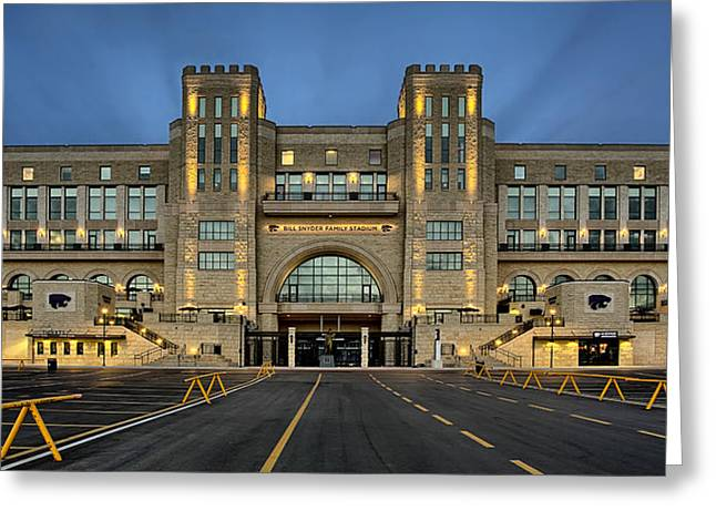 Parking Greeting Cards - Bill Snyder Family Stadium Greeting Card by Thomas Zimmerman