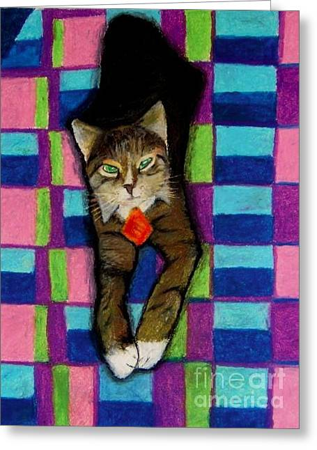 Frame House Pastels Greeting Cards - Bill the Cat Greeting Card by Jon Kittleson