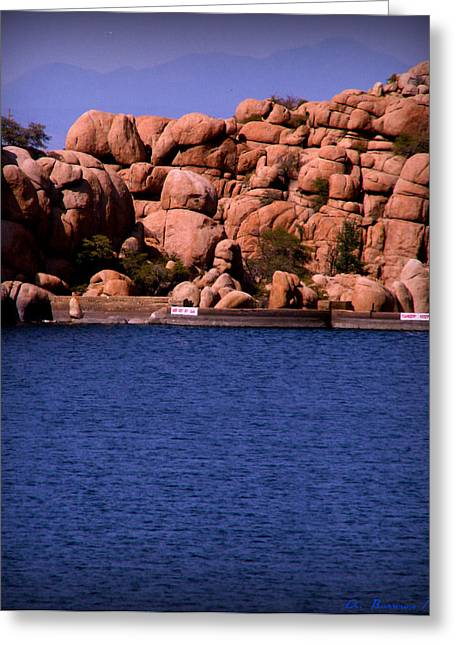 Watson Lake Greeting Cards - Bill Williams Over the Lake and Damn Greeting Card by Aaron Burrows