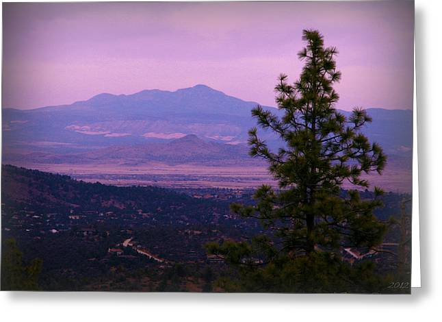 Prescott Greeting Cards - Bill Williams Over the Valley Greeting Card by Aaron Burrows
