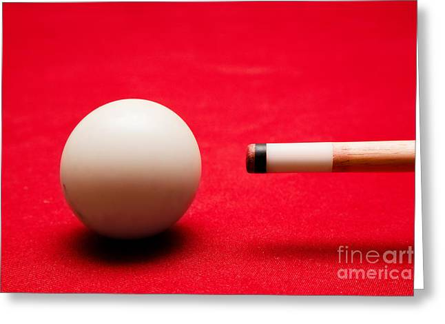 Ball Games Greeting Cards - Billards pool game Greeting Card by Michal Bednarek