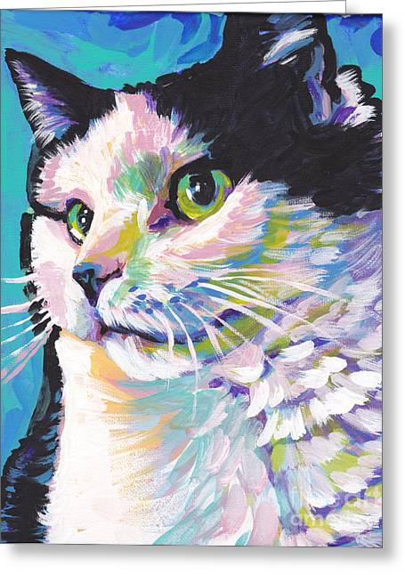 Children Decor Greeting Cards - Billi Cat Baby Greeting Card by Lea
