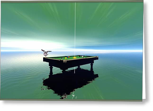 Billiard Table Greeting Card by Harald Dastis