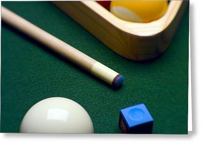 Billiards Greeting Card by Tony Cordoza