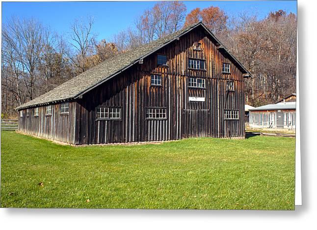 Billie Creek Village Greeting Cards - Billie Creek Barn Greeting Card by Thomas Sellberg