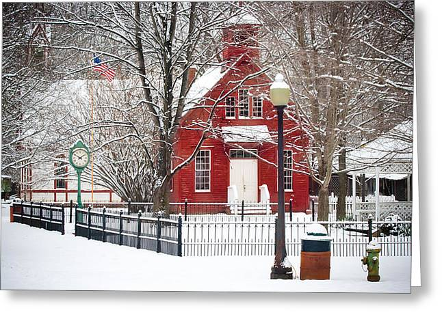 Billie Creek Village Greeting Cards - Billie Creek Village Winter Scene Greeting Card by Virginia Folkman