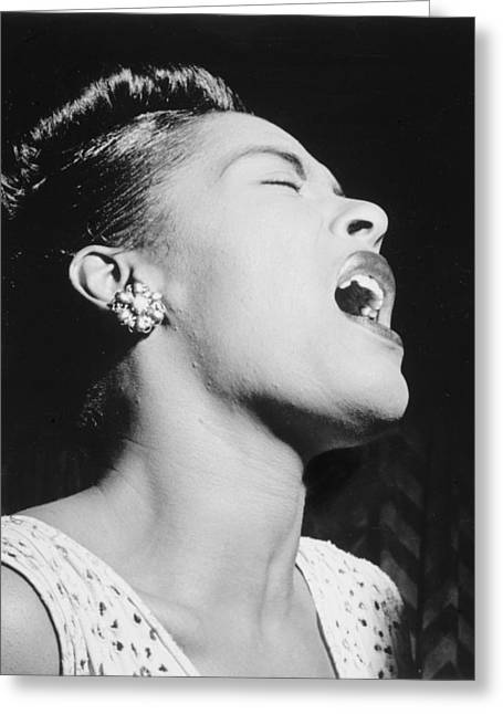 Billie Holiday Greeting Cards - Billie Holiday Greeting Card by Nomad Art And  Design