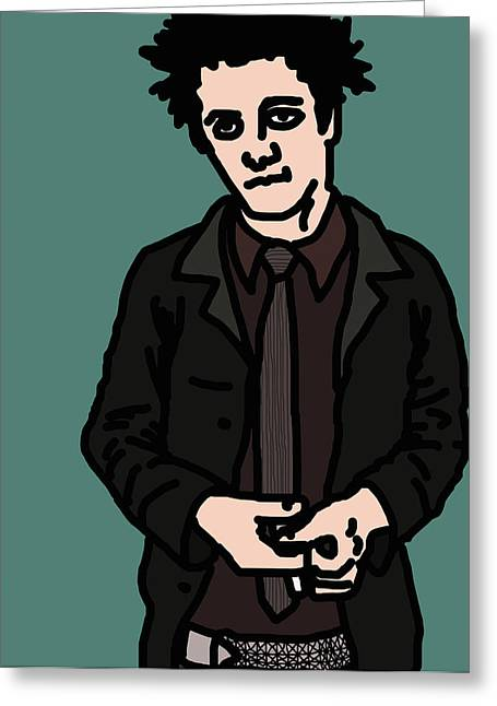 Foxboro Greeting Cards - Billie Joe Armstrong Greeting Card by Jera Sky