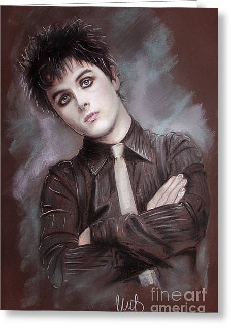 Musicians Pastels Greeting Cards - Billie Joe Armstrong Greeting Card by Melanie D