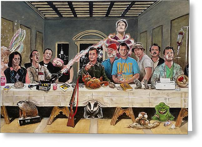 Recently Sold -  - Shack Greeting Cards - Bills Last Supper Greeting Card by Tom Carlton