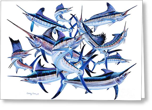 Gamefish Greeting Cards - Bills OFF0044 Greeting Card by Carey Chen