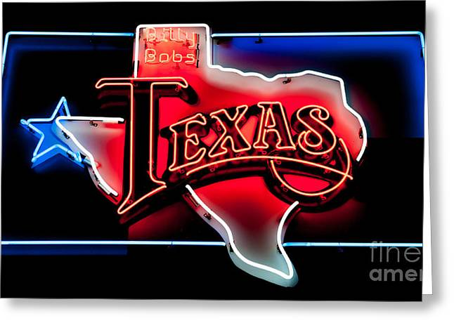 Country Dance Greeting Cards - Billy Bobs Texas Greeting Card by Charles Dobbs
