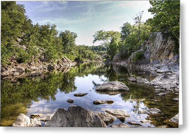 Christmas Greeting Greeting Cards - Billy Goat Landscape Off Potomac River Greeting Card by Francis Sullivan
